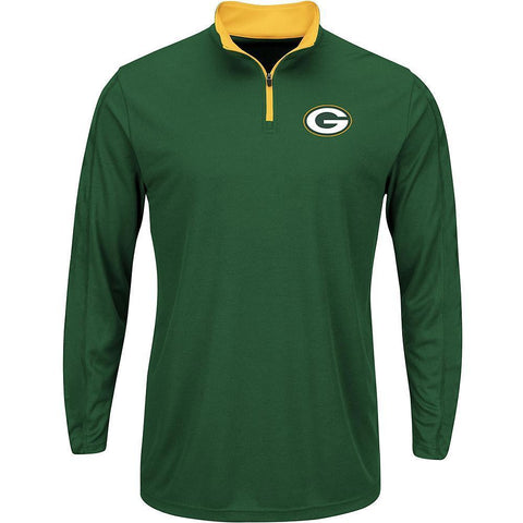 NFL Men's Quarter-Zip Shirt - Green Bay Packers - Size 2XL - Teammvpsports
