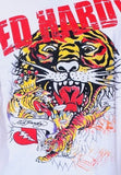 NEW Ed Hardy Men's White Short Sleeve Tee Shirt - TIGER COLLAGE RHINESTONES XXL - Teammvpsports