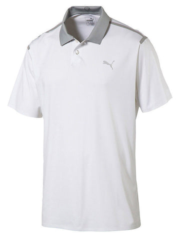 Puma Bonded Dry Cell White Golf Polo Size XXL - Teammvpsports