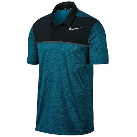 NIKE Mens TW Dry Blocked Golf Polo Shirt Blustery Size 2XL - Teammvpsports