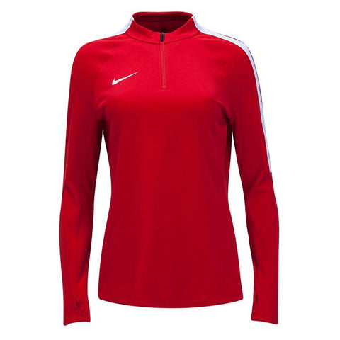 Nike Women's Squad16 Drill Top Red White  - Size L XL. MSRP $70.00 - Teammvpsports