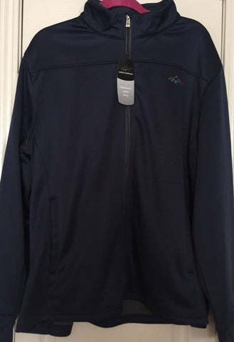 GREG NORMAN Shark Edition Navy Performance Weather Knit Jacket Size XL - Teammvpsports