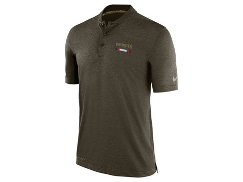 Nike New England Patriots Men's Olive Salute to Service Sideline Polo Size M - Teammvpsports