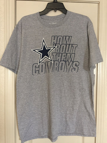 Dallas Cowboys Authentic Gray Flare Tee Shirt Size L - Teammvpsports