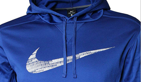 NIKE Men's Dry Training Blue Pullover Hoodie Size L, MSRP $85.00 - Teammvpsports