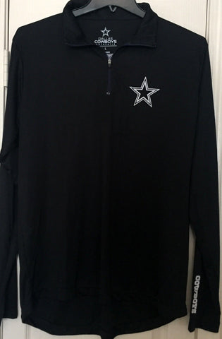 Dallas Cowboys Authentic Black Long Sleeve 1/4 Zip Shirt Size L - Teammvpsports