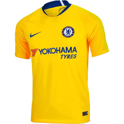 Nike Men's 2018/19 Chelsea Away Stadium Jersey Yellow Size XL - Teammvpsports