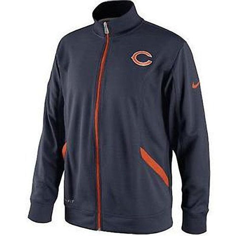 Nike Chicago Bears Woman's Blue Full Zip Jacket - Team Apparel - Size S - Teammvpsports