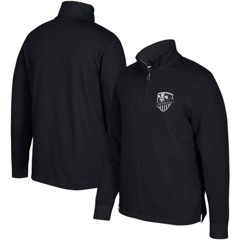 Montreal Impact adidas Team Quarter-Zip Pullover Jacket - Black Size 2XL - Teammvpsports