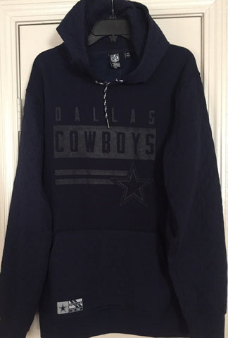 Dallas Cowboys Authentic Apparel Navy Blue Fleece Quilted Pullover Hoody  L XL - Teammvpsports