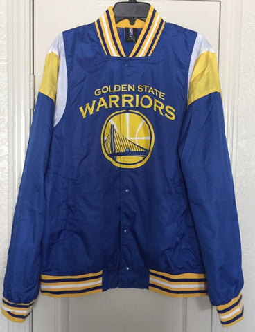Golden State Warriors Windbreaker Warm-Up Button Down Snap Jacket  M, L, XL, 2XL - Teammvpsports