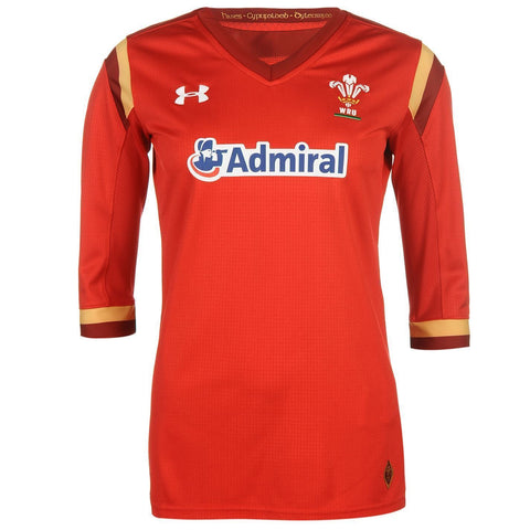 Under Armour Womens Wales Rugby Team Home Supporters Red Jersey Size M, L - Team MVP Sports