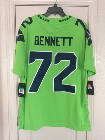 Nike Seattle Seahawks Michael Bennett #72 Color Rush Limited Jersey Sizes XL 3XL - Teammvpsports