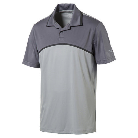 PUMA Golf Men's Tailored Colorblock Polo, Quarry, Size XL, 2XL - Teammvpsports