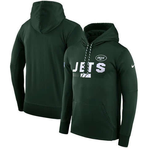 Nike New York Jets Therma-FIT PO Sideline Sweatshirt Hoodie Size L - Teammvpsports