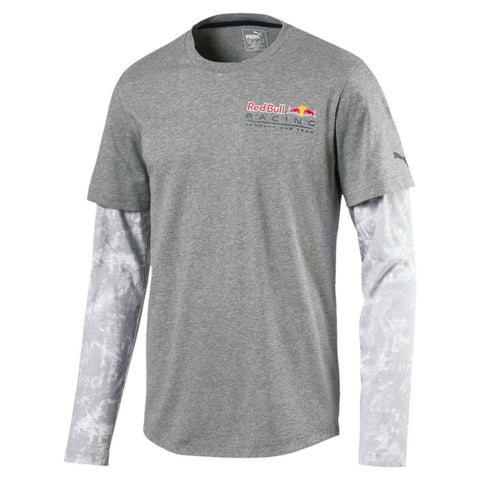 Puma Red Bull Racing Formula One Team Long Sleeve Gray Allover Shirt Size L - Teammvpsports