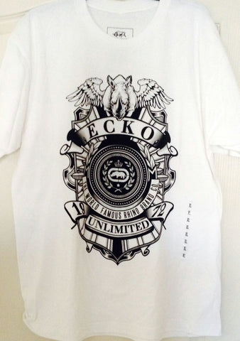 Ecko Unlimited Men's Short Sleeve White Tee Shirt -  Size XL - Teammvpsports