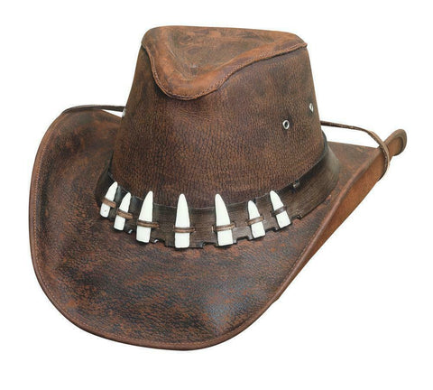 Bullhide Crocodile Dundee Leather Western Cowboy Hat SPIFFY - Teammvpsports