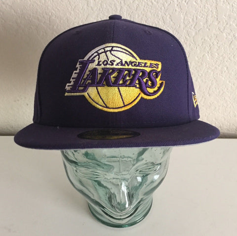 New Era 59FIFTY Los Angeles LA Lakers Purple Fitted Cap Size 7 1/2 - Teammvpsports