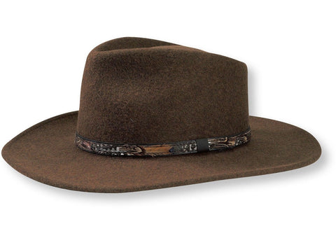 Stetson Water Repellent Crushable Hat - EXPEDITION - Loden Color Size S - Teammvpsports