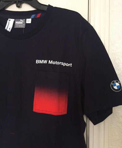 Puma BMW Motorsport Black Tee Shirt with Pocket Size L - Team MVP Sports