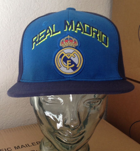 Real Madrid Soccer Blue Snapback Cap Adjustable Official Product - Teammvpsports