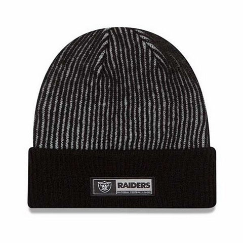 NEW ERA TECH CUFFED SPORT KNIT OAKLAND RAIDERS BEANIE - Teammvpsports