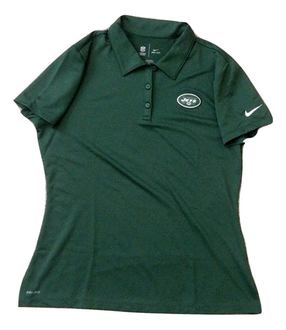 Nike New York Jets Women's Team Apparel Green Polo Shirt Size XL - Teammvpsports
