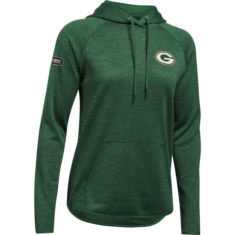 UNDER ARMOUR WOMEN'S COMBINE AUTHENTIC GREEN BAY PACKERS HOODIE L, XL - Teammvpsports