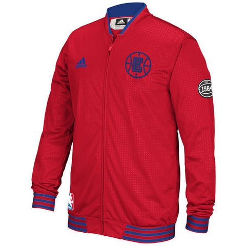 adidas Los Angeles Clippers Red On-Court Warm-Up Jacket Size M - Teammvpsports