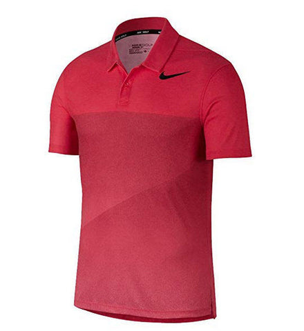 NIKE Dry Fit Slim Black Fade Golf Polo 2017 Siren Red Black Size XL - Teammvpsports