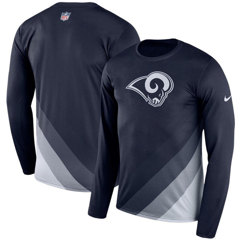 Nike Los Angeles Rams Sideline Legend Prism Performance Long Sleeve Shirt Sze L,M - Teammvpsports
