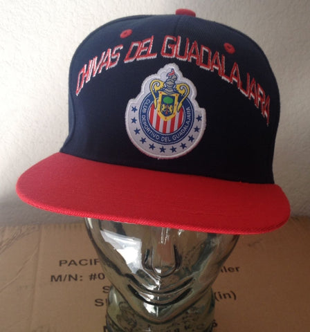 Chivas Del Guadalajara Red Blue Snapback Cap Adjustable Official Product - Teammvpsports