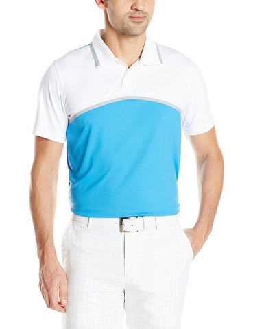 PUMA Golf Men's Tailored Colorblock Polo, French Blue, Size L, M - Teammvpsports
