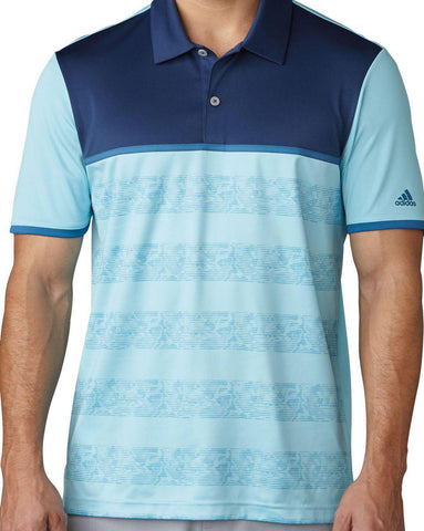 Adidas Climacool 2D Camo Stripe Golf Polo Blue Men's Size M - Teammvpsports