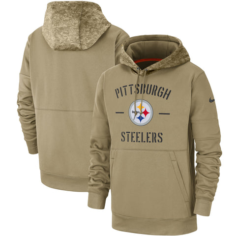 Nike Pittsburgh Steelers 2019 Men's NFL Salute to Service Tan Hoody Size M, XL - Teammvpsports