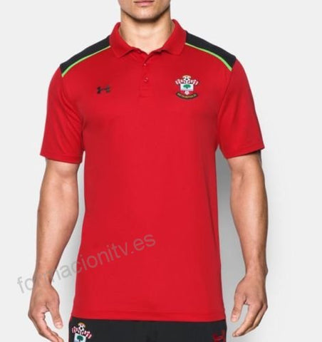 Under Armour Men's Red Southampton FC Polo Top Size Large - Teammvpsports