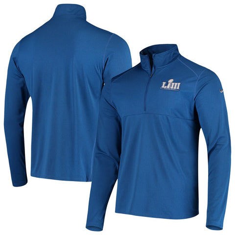 Super Bowl LIII Nike Half-Zip Pullover Performance Jacket - Royal Size 3XL - Teammvpsports