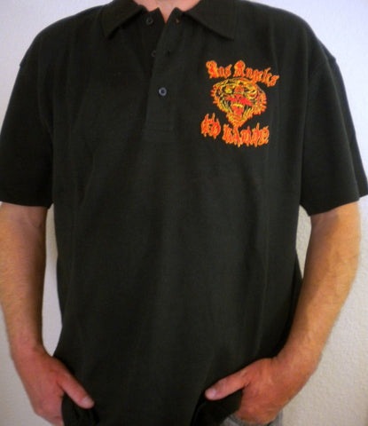 NEW Ed Hardy Men's Black Polo Shirt  LOS ANGELES TIGER  Short Sleeve  Size XXL - Teammvpsports