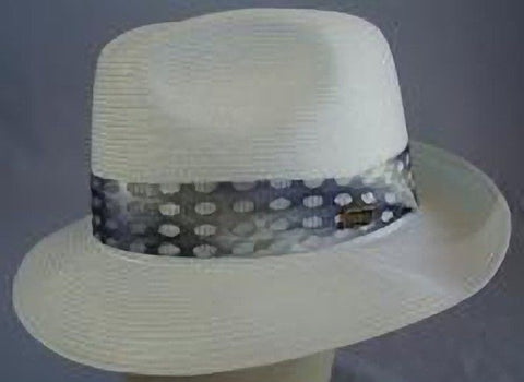 Dobbs Venetion Milan Straw Fedora - White or Brown - Size 71/8 - Made in USA - Teammvpsports