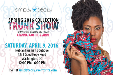 Simply Cecily Spring 2016 Trunk Show