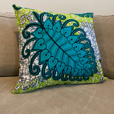 The Turquoise Leaf Pillow
