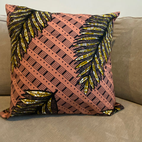 Coral Leaves Pillow