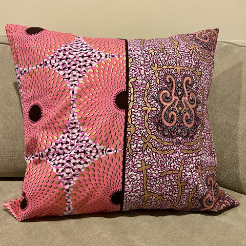 Pink & Gold Circle Pillow