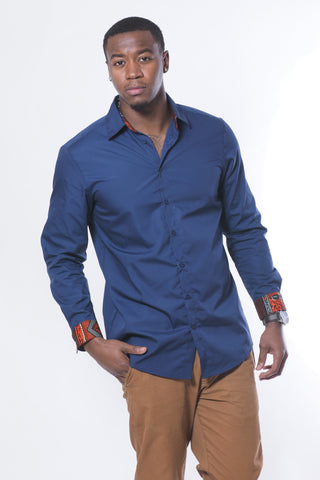 Navy Khari Shirt