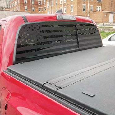 Toyota Tacoma  Rear Window Decal american flag - OGRAPHICS