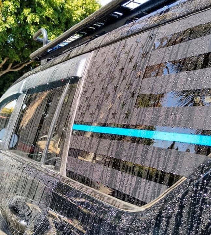 Lexus GX-LX  Blue line flag decal ( not  precut )