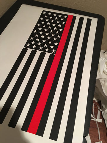 4Runner 5th Gen  american flag Thick reflective  LINE DECALS - OGRAPHICS