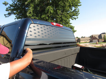 Chevy Silverado  flag decal - OGRAPHICS