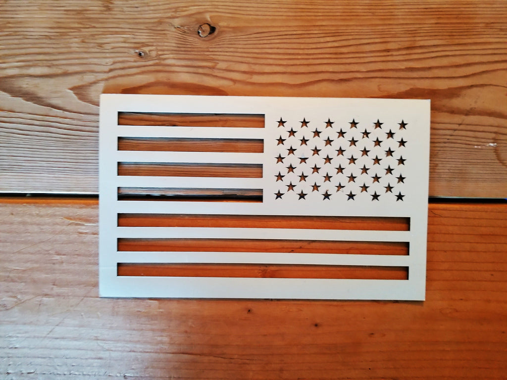 Pearl white american flag magnet cut out - OGRAPHICS